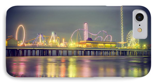 Galveston Pier Colors IPhone Case by Ray Devlin