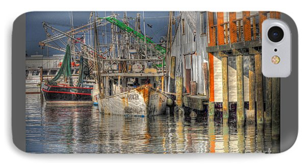 IPhone Case featuring the photograph Galveston Shrimp Boats by Savannah Gibbs