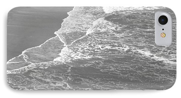 Galveston Tide In Grayscale IPhone Case by Connie Fox