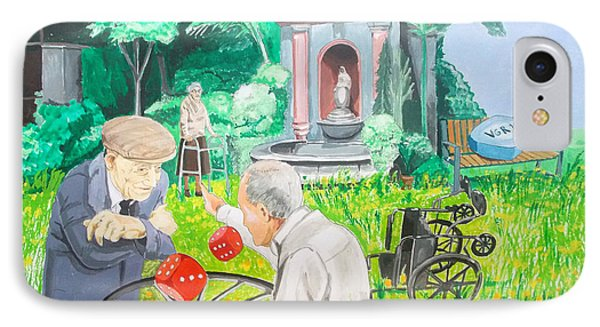 IPhone Case featuring the painting Gambling Grandma  by Lazaro Hurtado