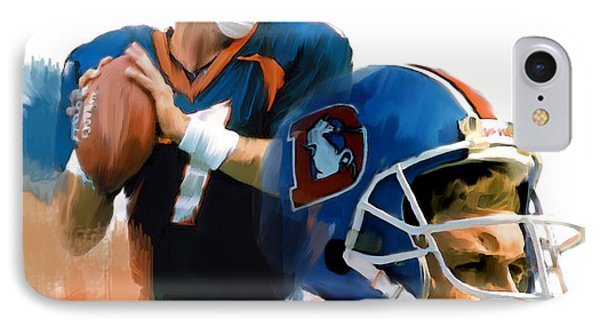 Game Elway  John Elway IPhone Case by Iconic Images Art Gallery David Pucciarelli