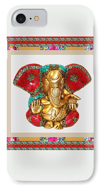 Ganapati Ganesh Idol Hinduism Religion Religious Spiritual Yoga Meditation Deco Navinjoshi  Rights M IPhone Case by Navin Joshi