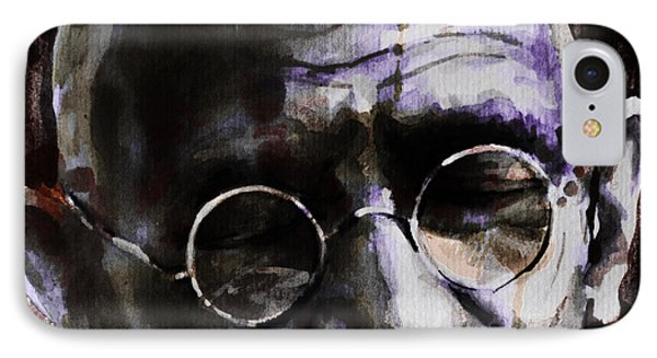 IPhone Case featuring the painting Gandhi by Laur Iduc