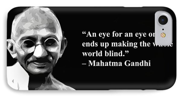 Gandhi On Revenge  IPhone Case by Artist Singh