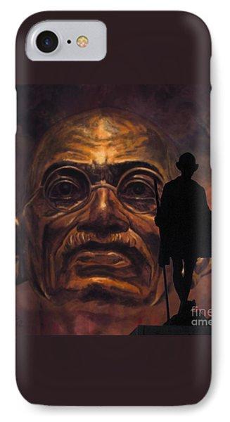 Gandhi - The Walk Phone Case by Richard Tito