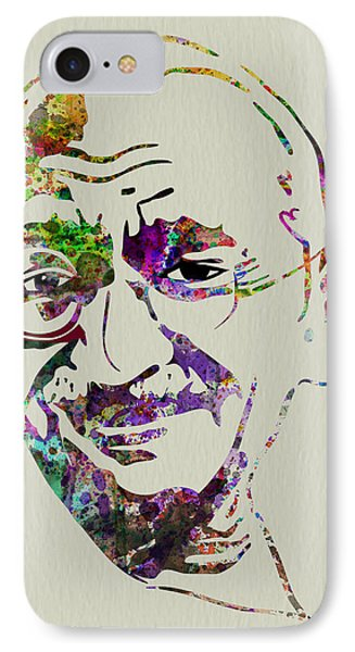 Gandhi Watercolor IPhone Case by Naxart Studio