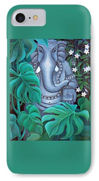 Ganesh With Jasmine Flowers 2 Phone Case by Vishwajyoti Mohrhoff