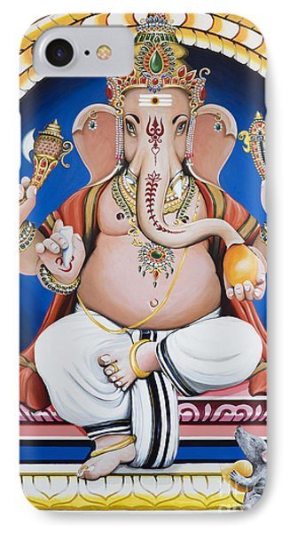 Ganesha Painting IPhone Case by Tim Gainey