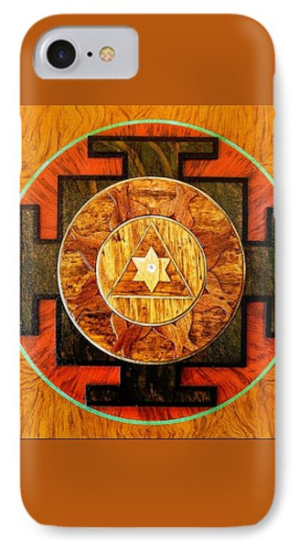 Ganesha Sacred 3d High Relief Artistically Crafted Wooden Yantra    23in X 23in Phone Case by Peter Clemens