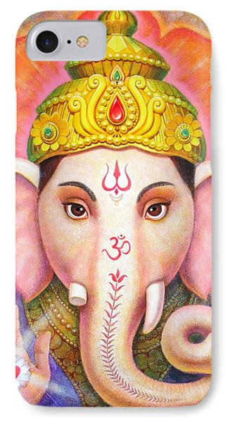 Ganesha's Blessing IPhone Case by Sue Halstenberg