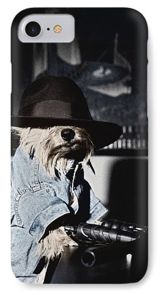 Gangster Dog Phone Case by Susan Stone