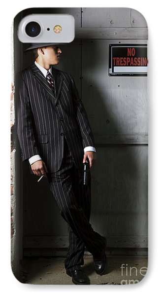 Gangster In The Shadows IPhone Case by Diane Diederich