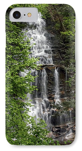 IPhone Case featuring the photograph Ganoga Falls Through The New Spring Foliage by Gene Walls