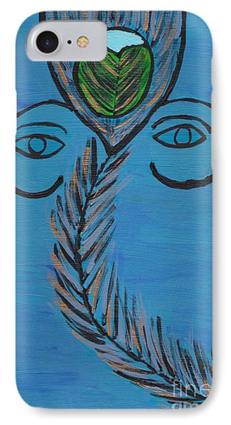 Ganpati Peacock Feather IPhone Case by Melissa Vijay Bharwani