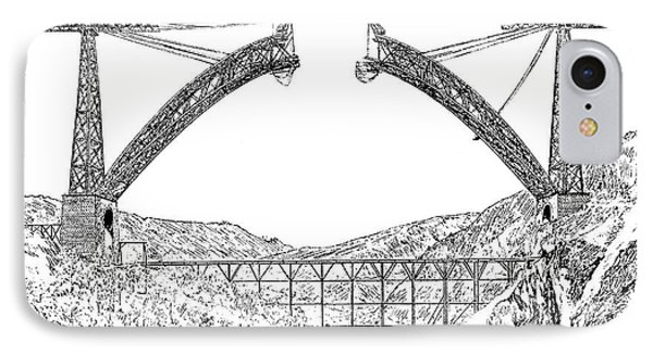 Garabit Viaduct IPhone Case by Science Photo Library