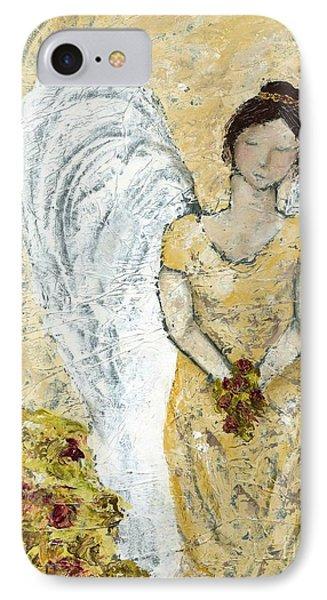 Garden Angel IPhone Case by Kirsten Reed