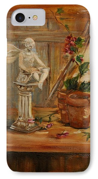 Garden Angel Two IPhone Case by Lindsay Frost