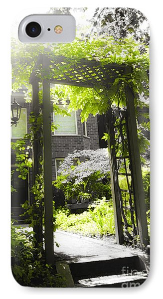 Garden Arbor In Sunlight Phone Case by Elena Elisseeva