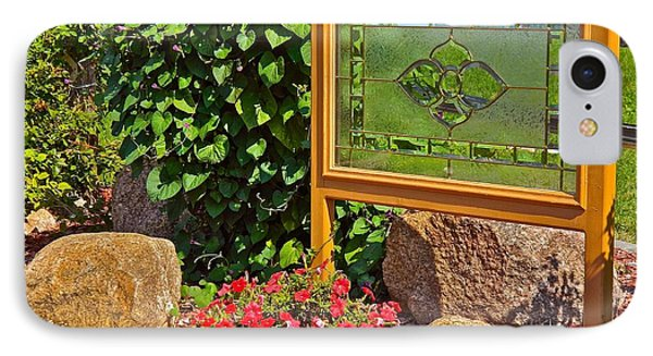 Garden Art IPhone Case by Randy Rosenberger
