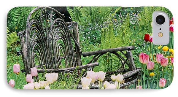 Garden Bench IPhone Case by Alan L Graham