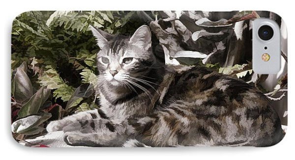 Garden Cat IPhone Case by Photographic Art by Russel Ray Photos