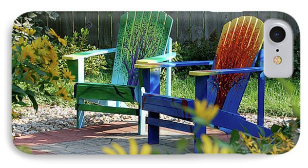 Garden Chairs Phone Case by First Star Art