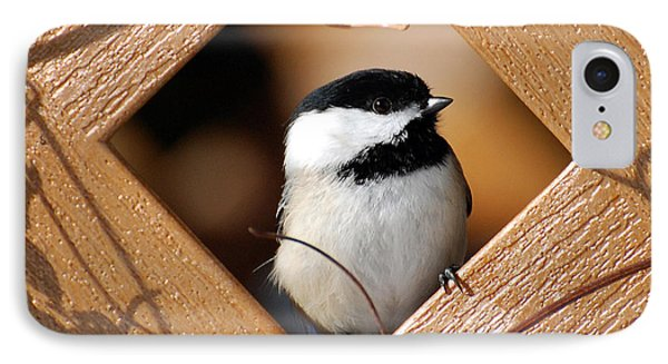 Garden Chickadee Phone Case by Christina Rollo
