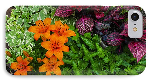IPhone Case featuring the photograph Garden Colors by Phil Abrams