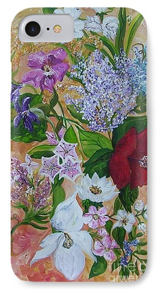 IPhone Case featuring the painting Garden Delight by Eloise Schneider