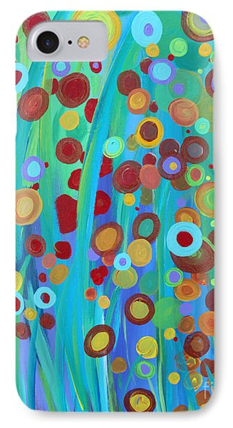 IPhone Case featuring the painting Garden Dreams by Stacey Zimmerman