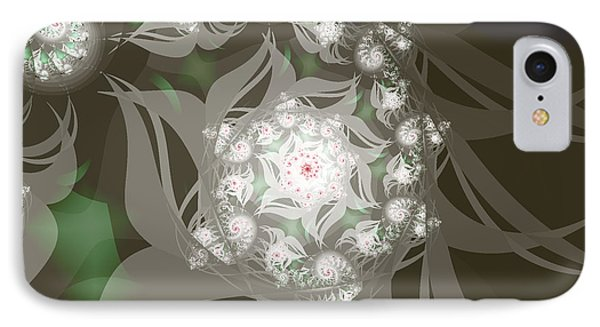IPhone Case featuring the digital art Garden Echos by Elizabeth McTaggart