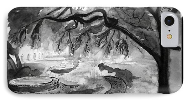 Garden Black And White IPhone Case by Eric Gagnon