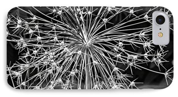 Garden Fireworks 2 Monochrome Phone Case by Steve Harrington