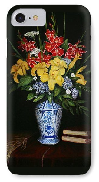IPhone Case featuring the painting Garden Flowers  by Sandra Nardone