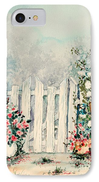 Garden Gate IPhone Case by Pattie Calfy