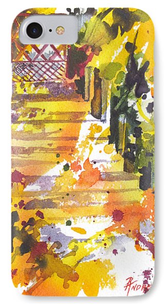 IPhone Case featuring the painting Garden Gate by Rae Andrews