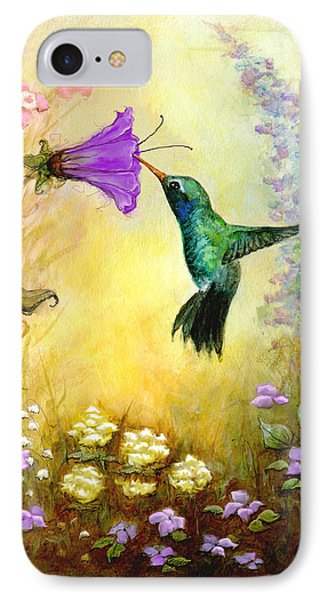 Garden Guest In Brown IPhone Case by Terry Webb Harshman