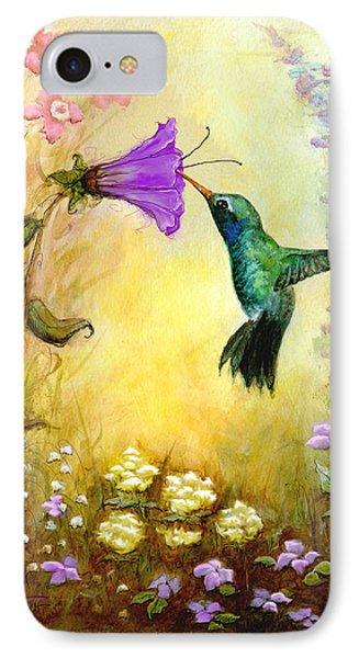Garden Guest In Lavender IPhone Case by Terry Webb Harshman