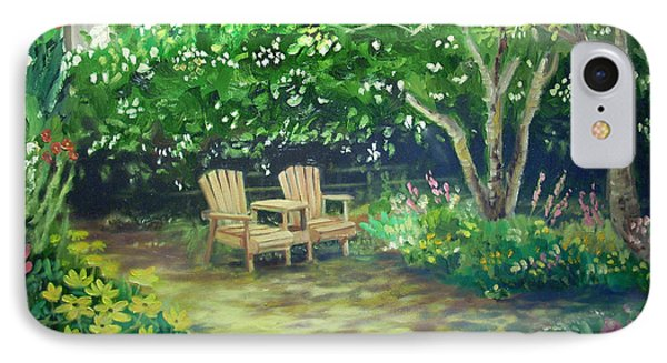 Garden In Cambria Phone Case by Don Felich