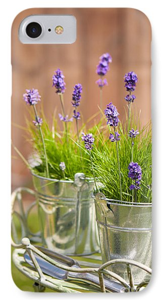 Garden Lavender IPhone Case by Amanda Elwell