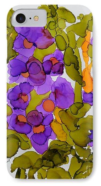 Garden Of Hollyhocks IPhone Case by Vicki  Housel