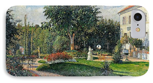 Garden Of Les Mathurins At Pontoise IPhone Case by Camille Pissarro