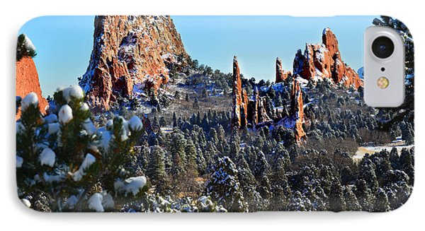IPhone Case featuring the photograph Garden Of The Gods After Snow Colorado Landscape by Jon Holiday