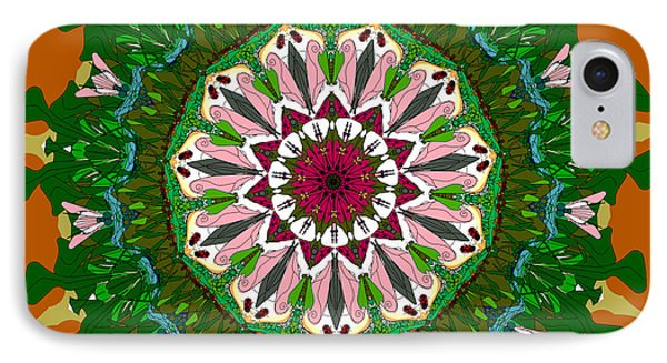 IPhone Case featuring the digital art Garden Party #2 by Elizabeth McTaggart