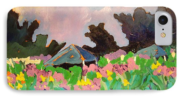 Garden Party 2 IPhone Case by Rodger Ellingson