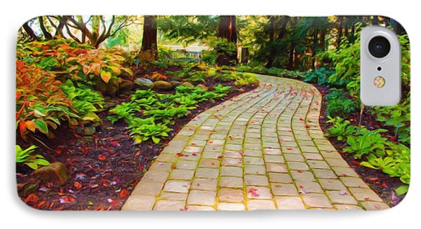 Garden Path IPhone Case by Michelle Joseph-Long