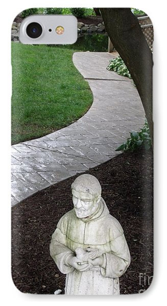Garden Path St. Francis IPhone Case by Lyric Lucas