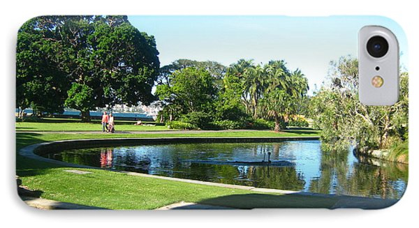 IPhone Case featuring the photograph Sydney Botanical Garden Lake by Leanne Seymour