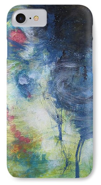 IPhone Case featuring the painting Garden Rainbow Reflection by John Fish