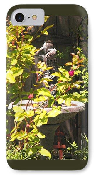 IPhone Case featuring the photograph Garden Sanctuary by Brooks Garten Hauschild